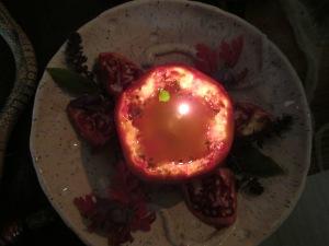 granatapfel öllampe
